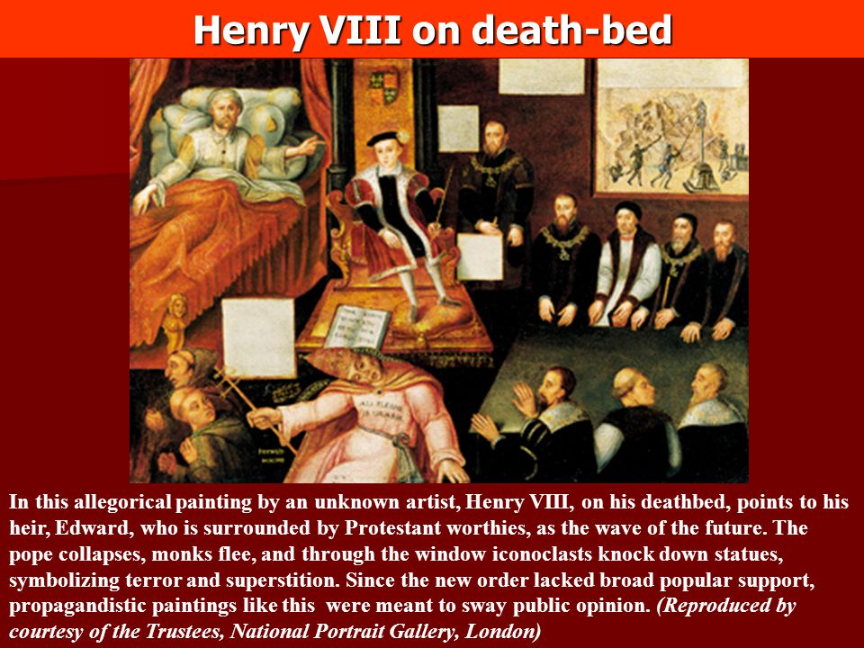 Henry VIII on death-bed