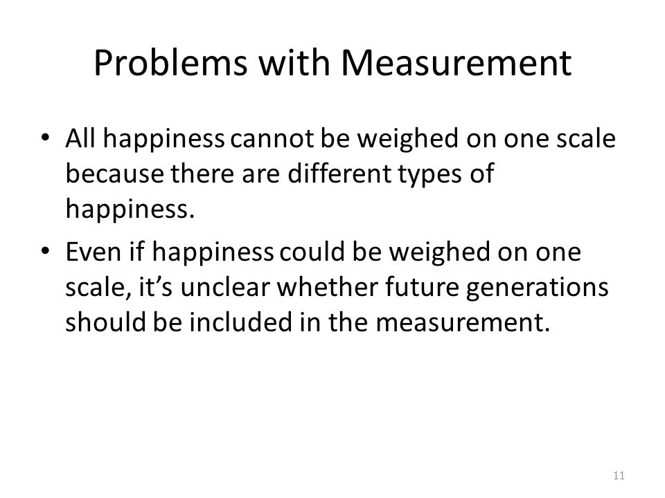 Problems with Measurement