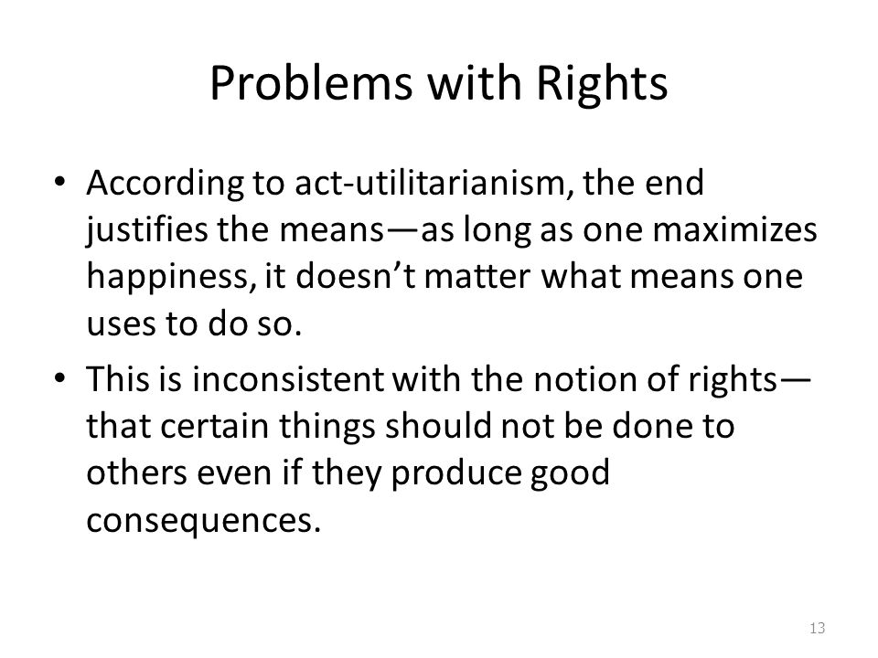 Problems with Rights