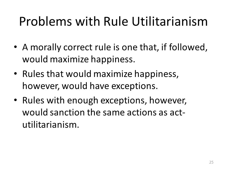 Problems with Rule Utilitarianism