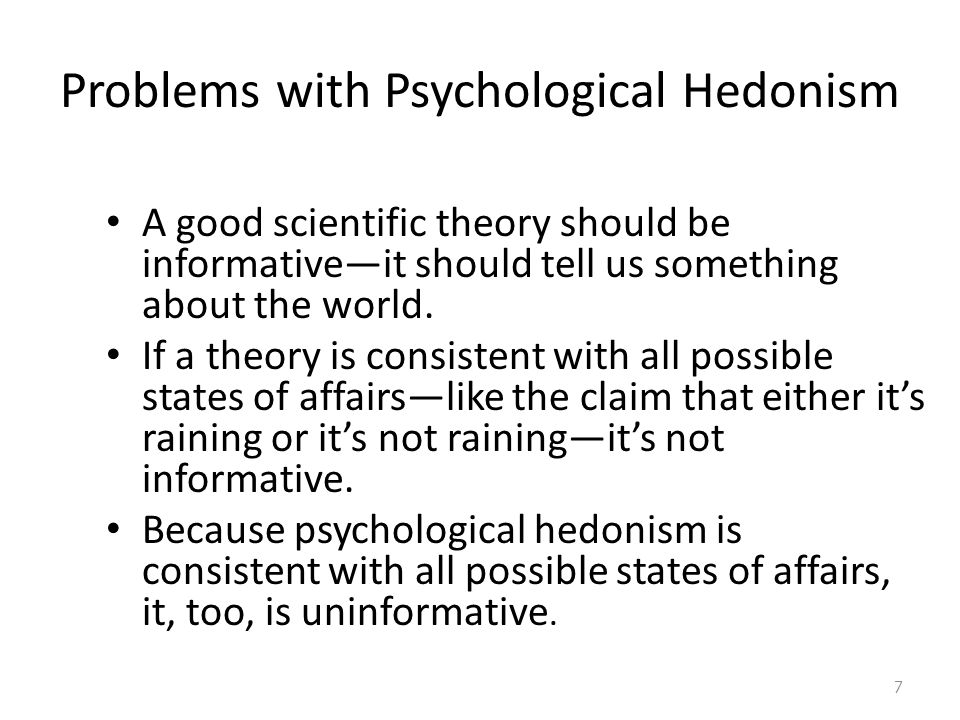 Problems with Psychological Hedonism