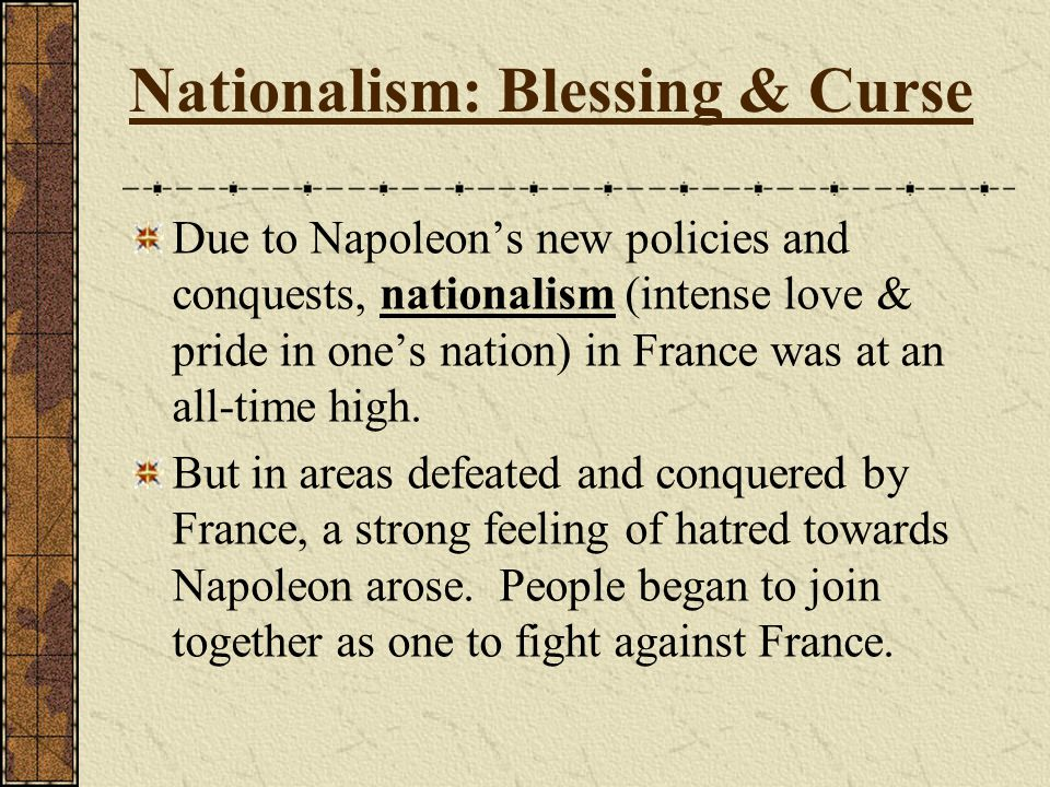 Nationalism: Blessing & Curse