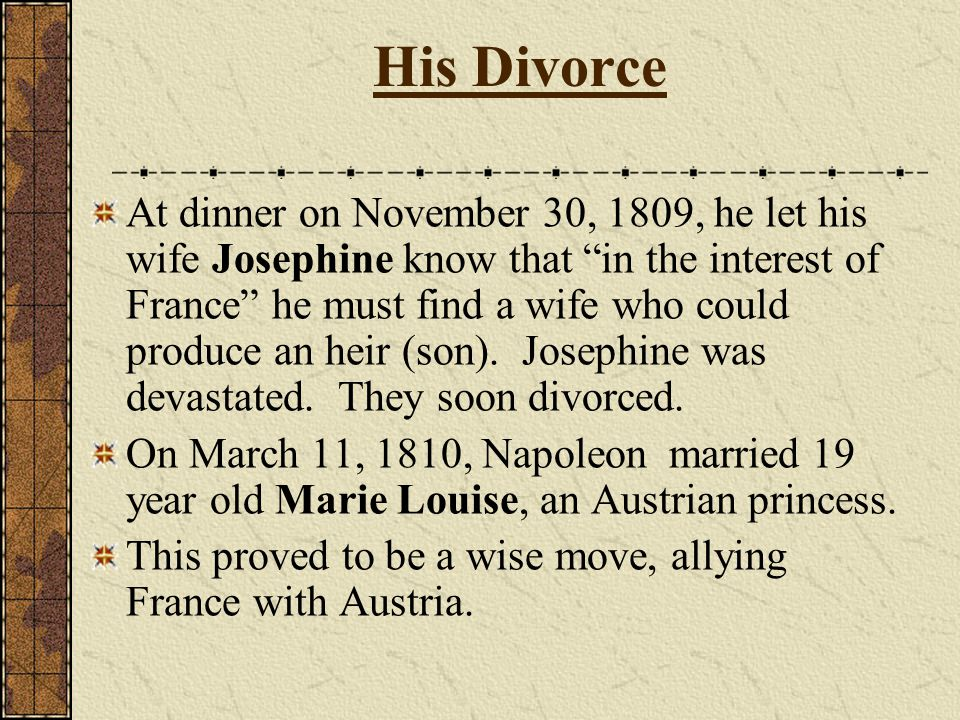 His Divorce