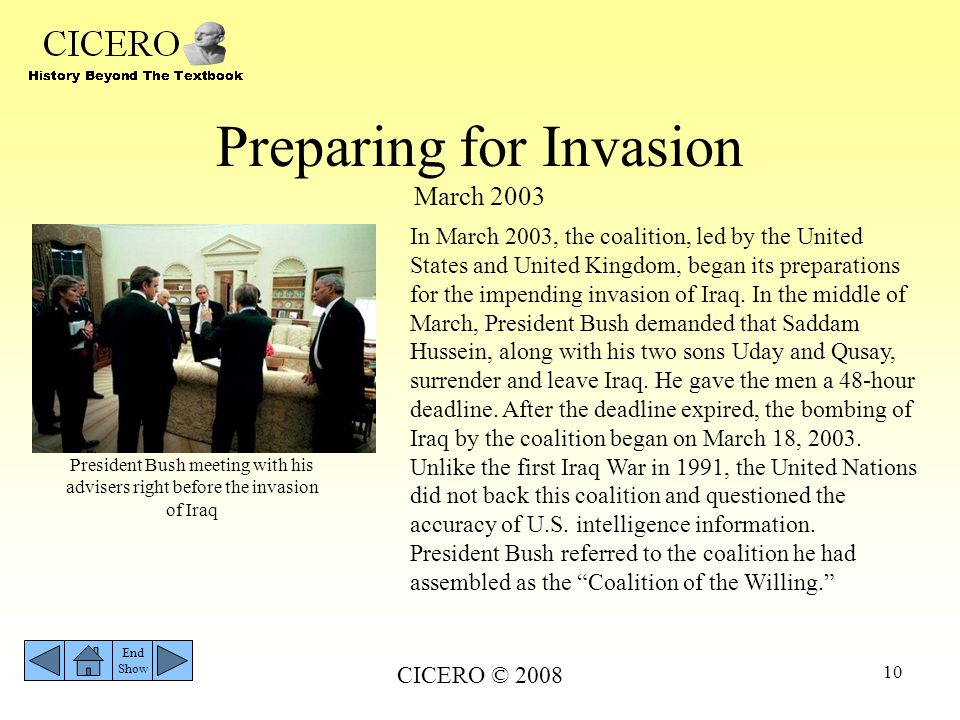 Preparing for Invasion March 2003