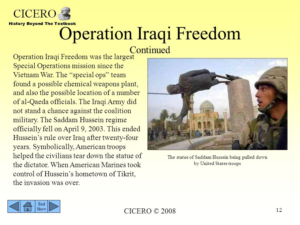 Operation Iraqi Freedom Continued