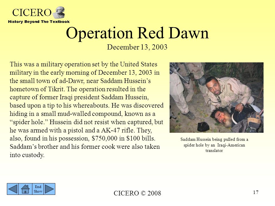 Operation Red Dawn December 13, 2003