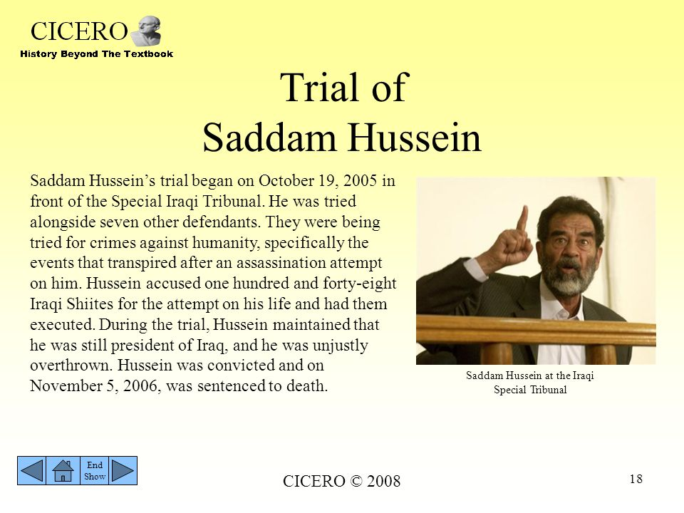 Trial of Saddam Hussein
