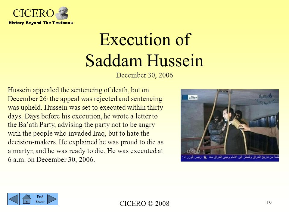 Execution of Saddam Hussein December 30, 2006