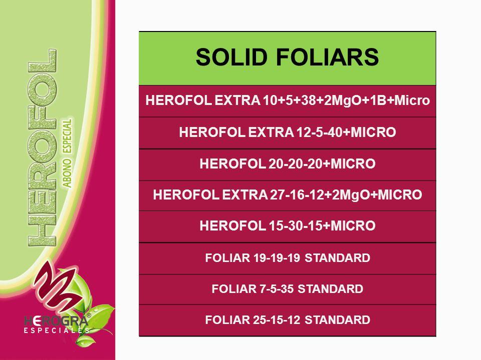 SOLID FOLIARS HEROFOL EXTRA 10+5+38+2MgO+1B+Micro