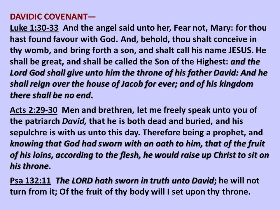 DAVIDIC COVENANT—