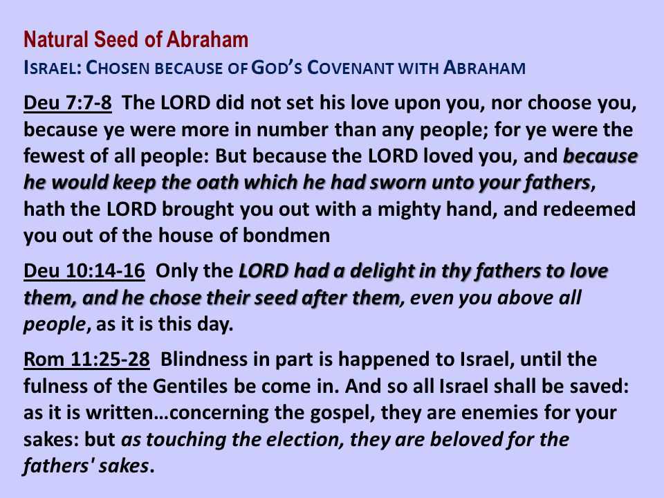 Natural Seed of Abraham