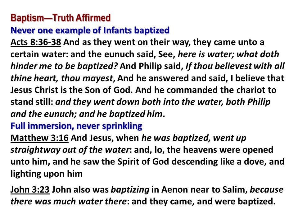 Baptism—Truth Affirmed