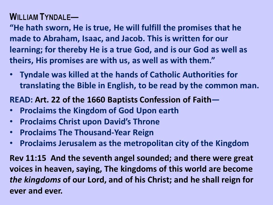 William Tyndale—