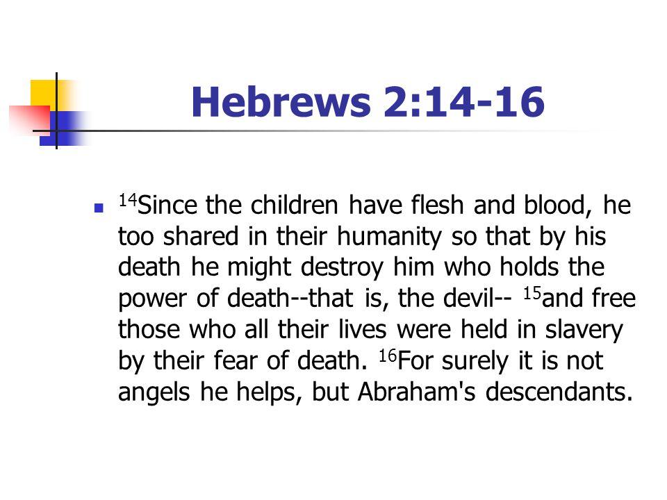 Hebrews 2:14-16