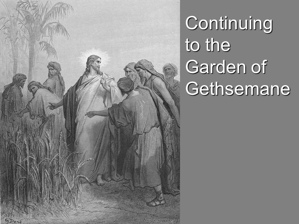 Continuing to the Garden of Gethsemane
