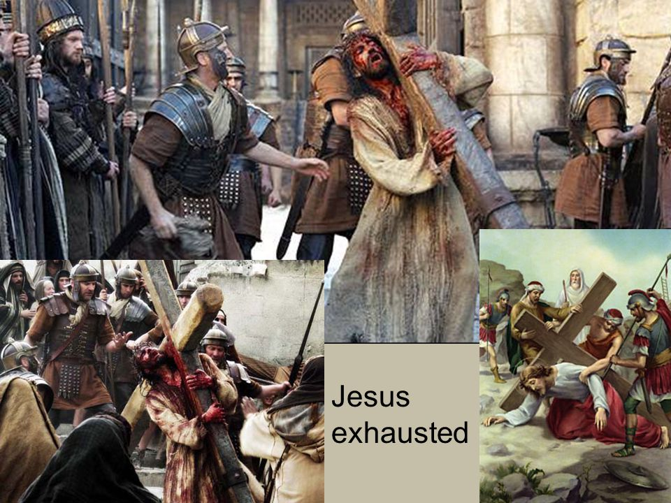 Jesus exhausted