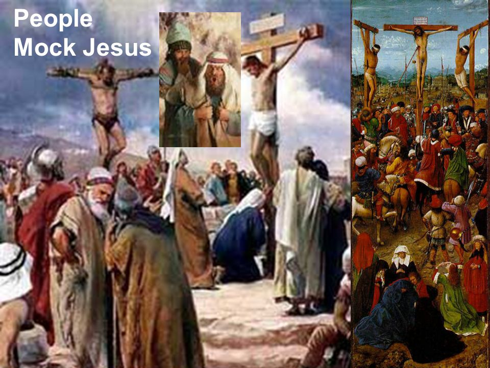 People Mock Jesus