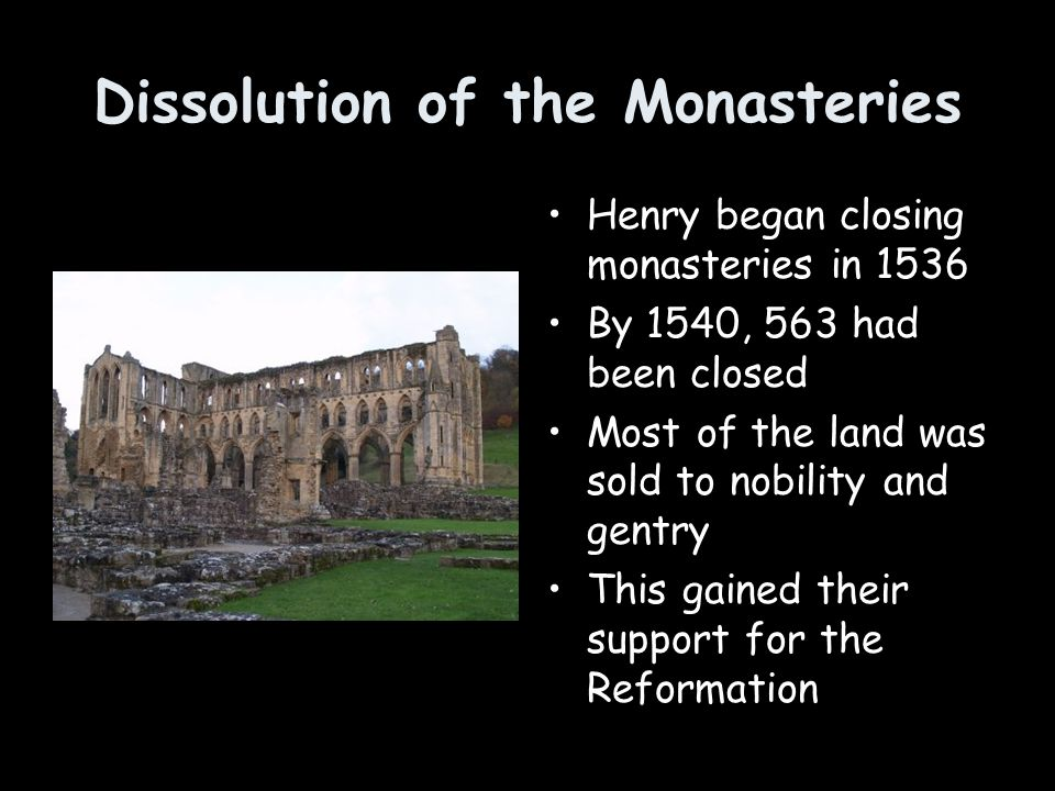 Dissolution of the Monasteries
