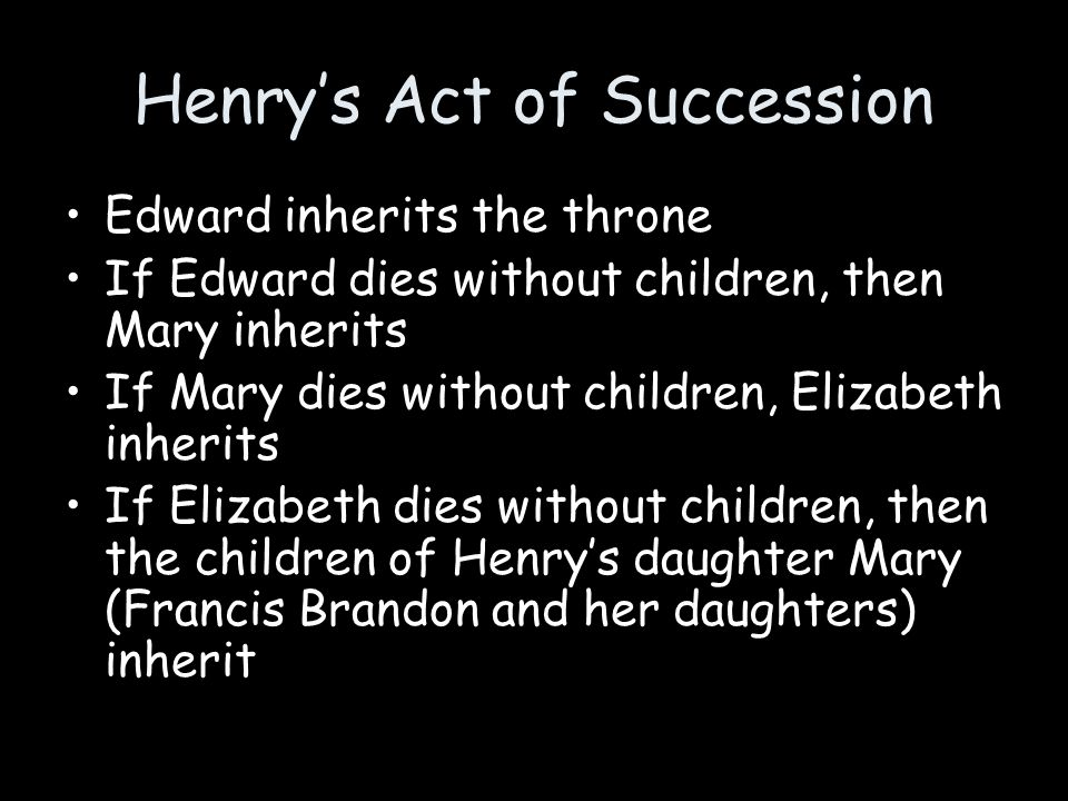 Henry's Act of Succession