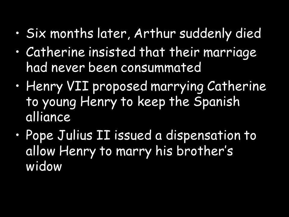 Six months later, Arthur suddenly died