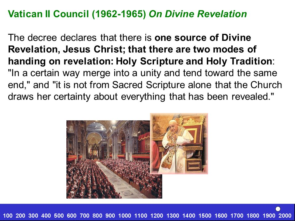 Vatican II Council (1962-1965) On Divine Revelation