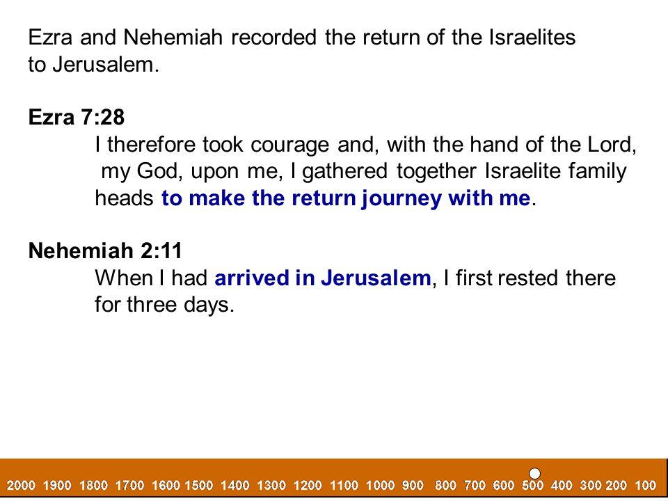 Ezra and Nehemiah recorded the return of the Israelites