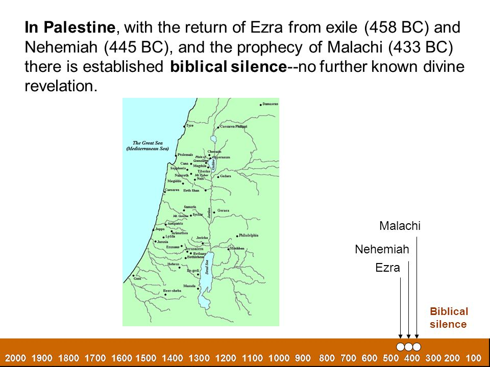 In Palestine, with the return of Ezra from exile (458 BC) and