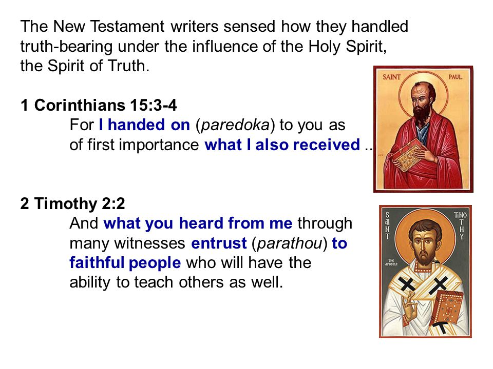 The New Testament writers sensed how they handled