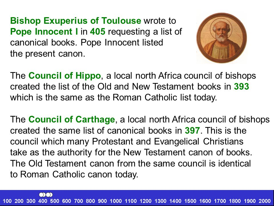 Bishop Exuperius of Toulouse wrote to