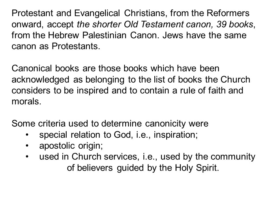 Protestant and Evangelical Christians, from the Reformers