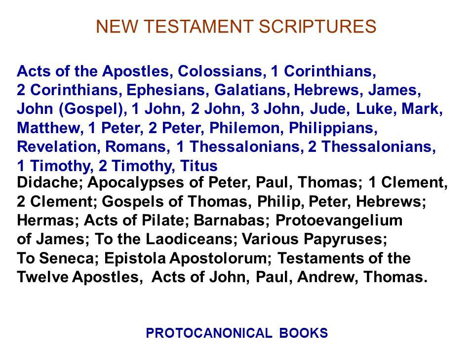 NEW TESTAMENT SCRIPTURES