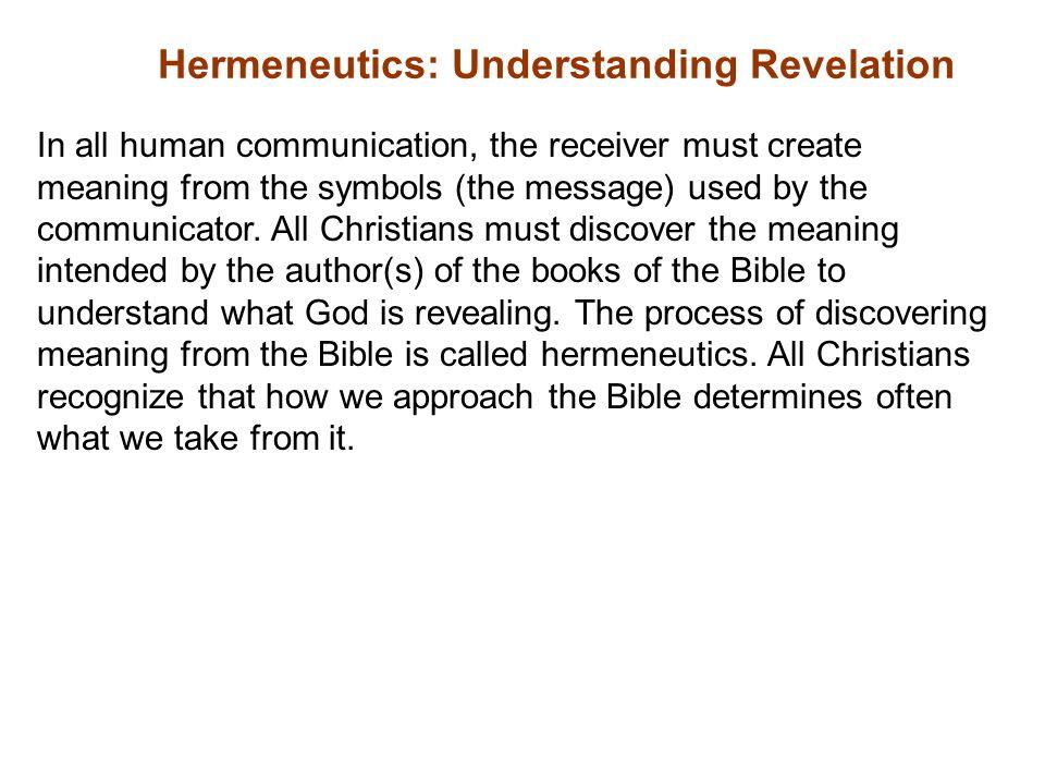 Hermeneutics: Understanding Revelation