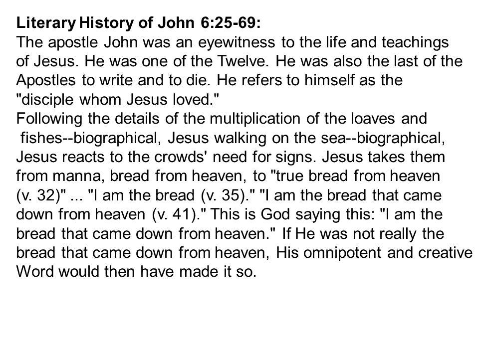 Literary History of John 6:25-69: