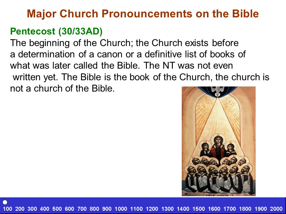 Major Church Pronouncements on the Bible