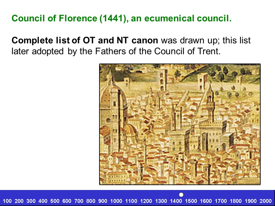 Council of Florence (1441), an ecumenical council.