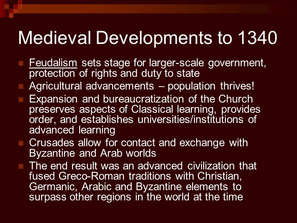 Medieval Developments to 1340