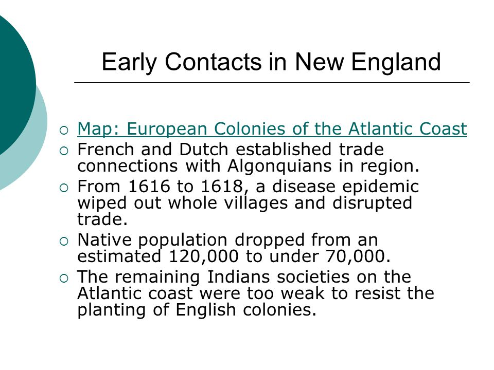 Early Contacts in New England