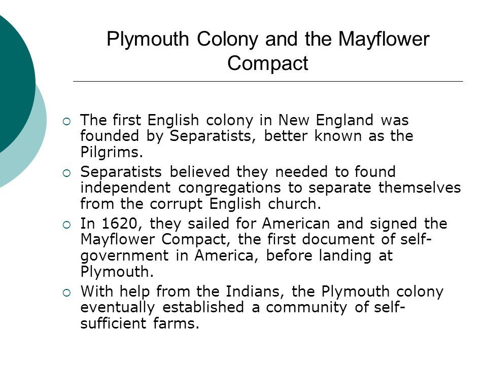 Plymouth Colony and the Mayflower Compact
