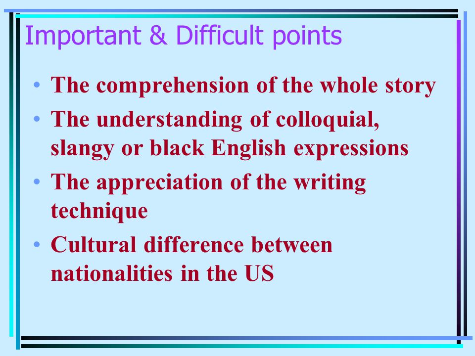 Important & Difficult points