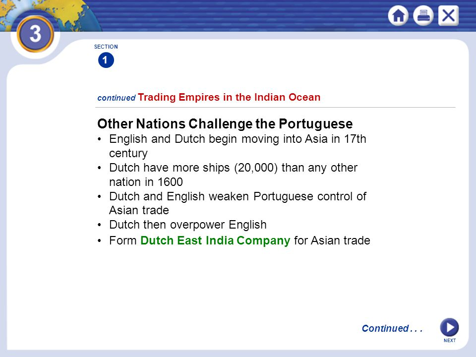 Other Nations Challenge the Portuguese