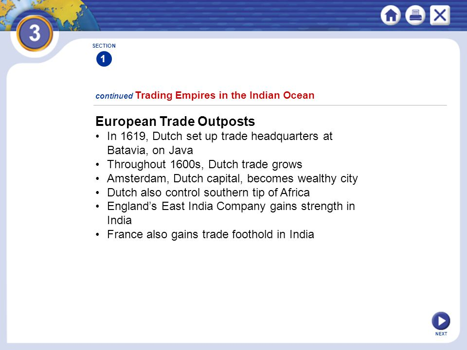 European Trade Outposts