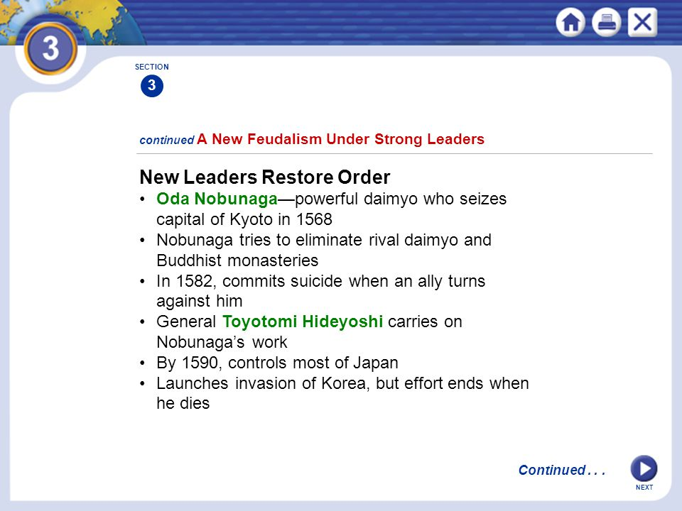 New Leaders Restore Order