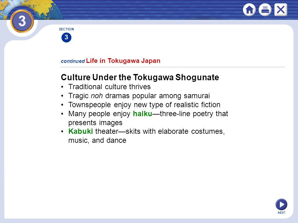 Culture Under the Tokugawa Shogunate