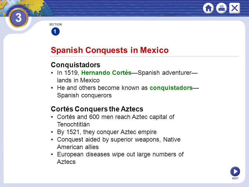 Spanish Conquests in Mexico