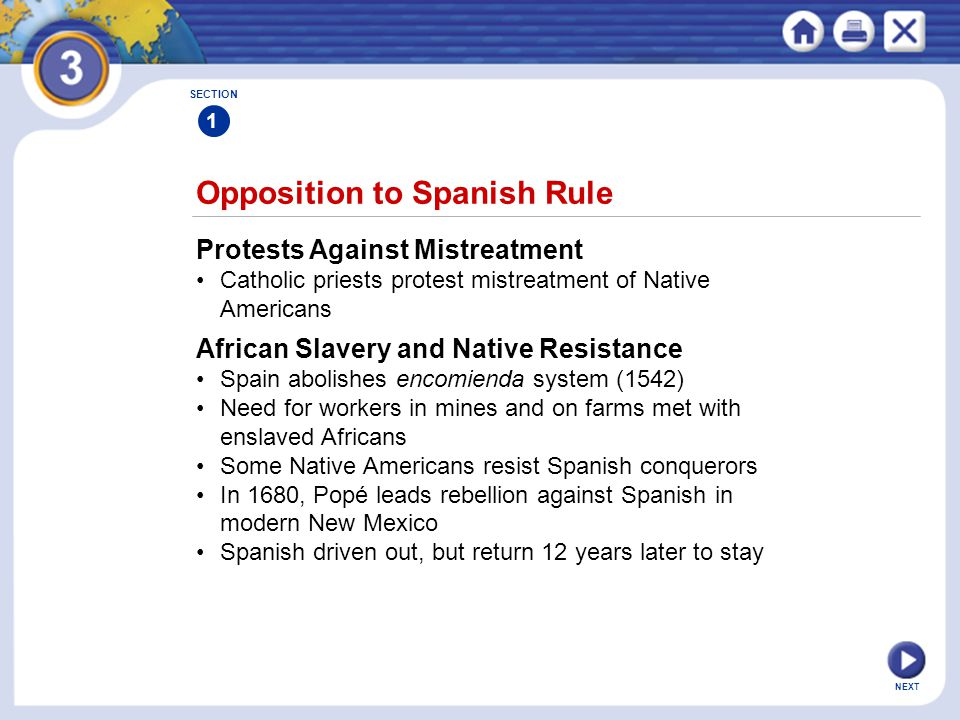 Opposition to Spanish Rule