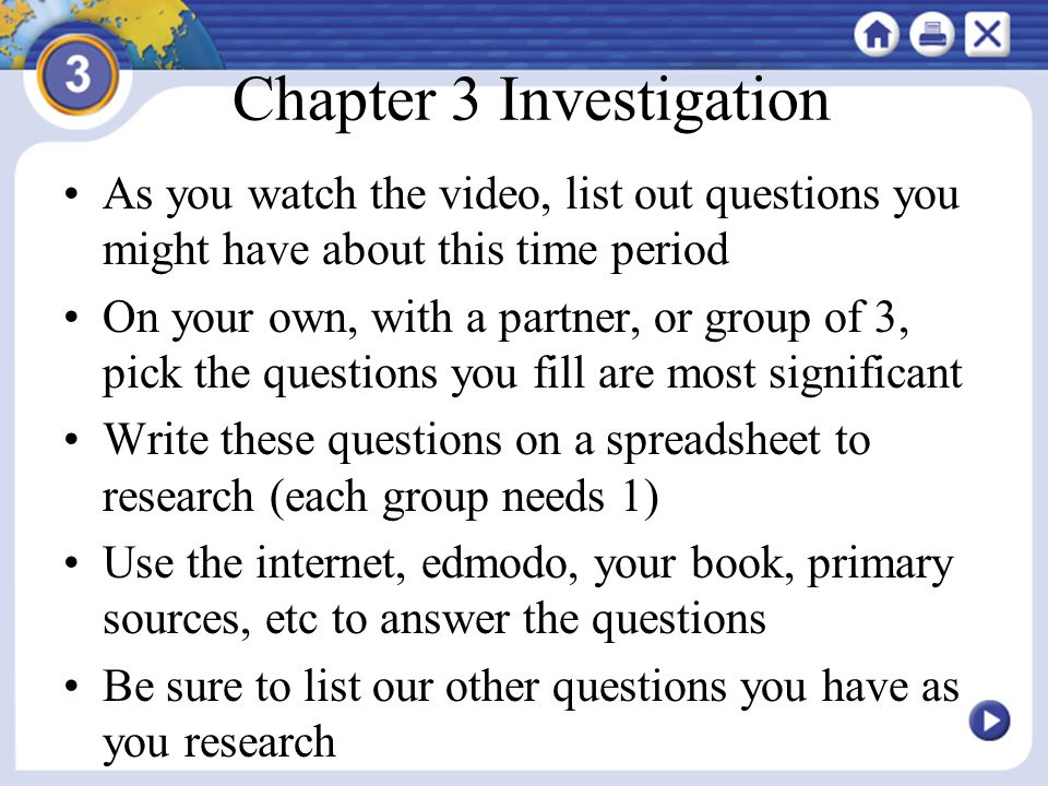 Chapter 3 Investigation