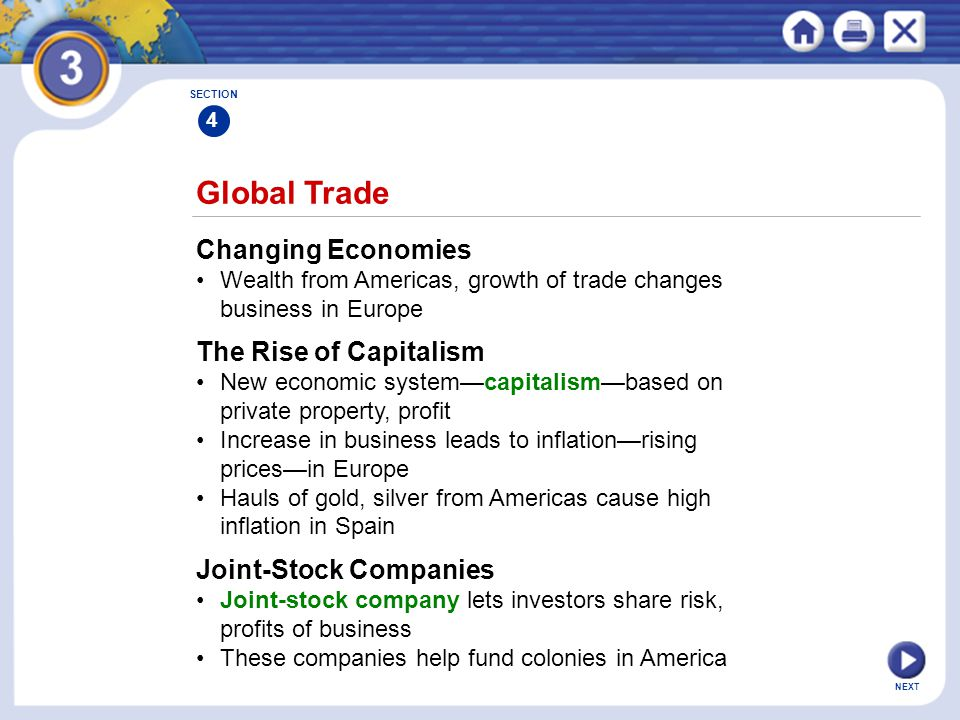 Global Trade Changing Economies The Rise of Capitalism