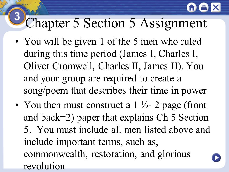 Chapter 5 Section 5 Assignment