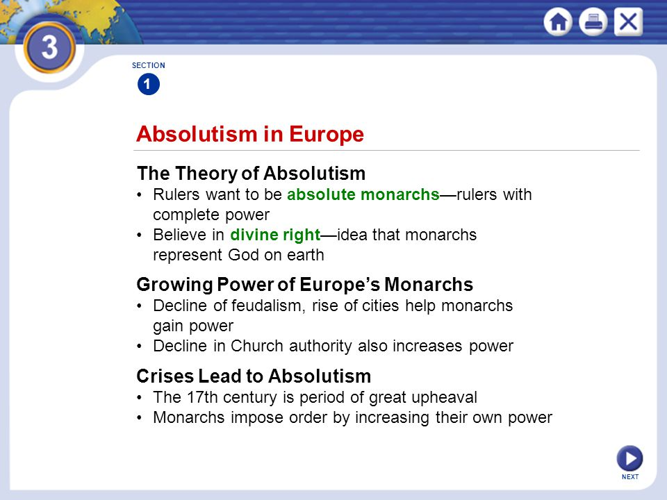 Absolutism in Europe The Theory of Absolutism
