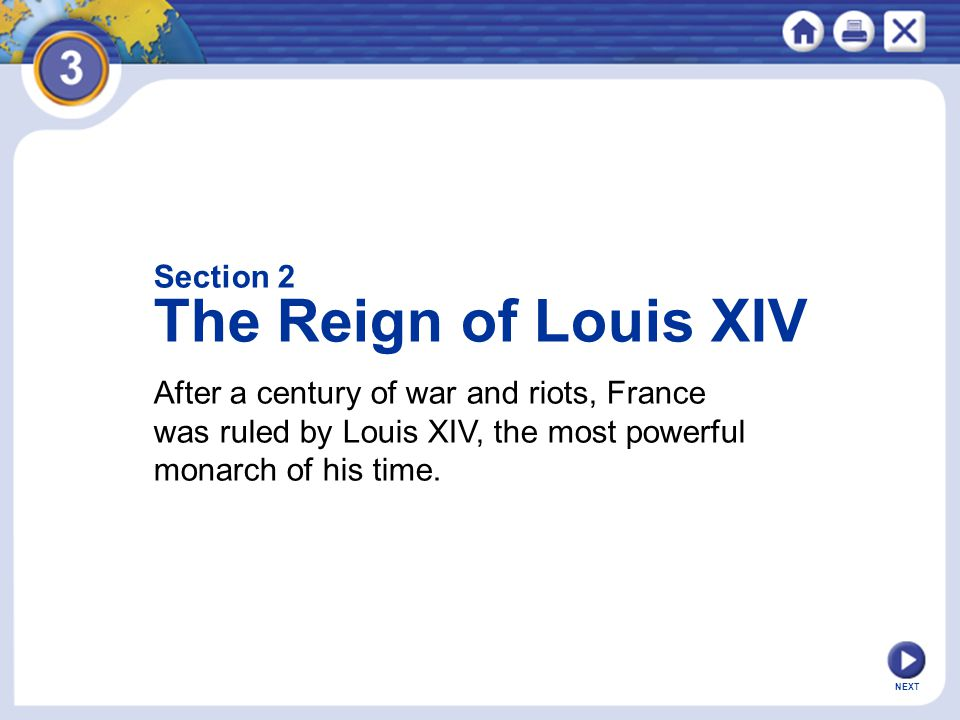 The Reign of Louis XIV Section 2